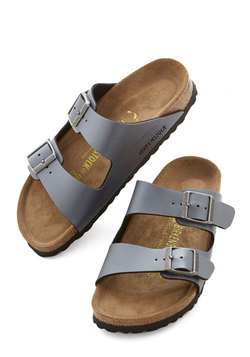 Strappy Camper Sandal in Pewter