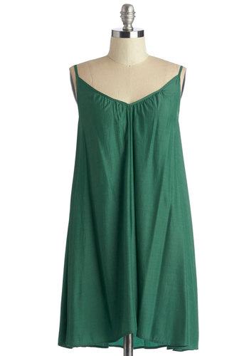 Wish Fulfillment Dress in Pine - Mini