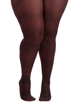 Searching High and Merlot Tights in Plus Size