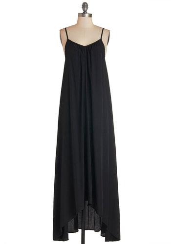 Wish Fulfillment Dress in Black - Maxi