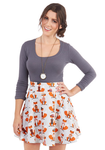 Playful Feeling Skirt in Foxes