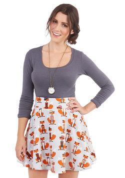 Playful Feeling Skirt in Foxes