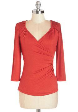 Seemingly Sew Top in Cinnamon - 3/4 Sleeves