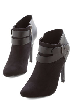 Follow Your Lead Bootie in Black