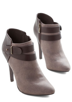 Follow Your Lead Bootie in Taupe