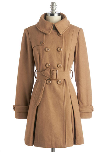 Inkwell Done Coat in Caramel