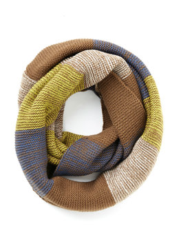 Straight to the Summit Circle Scarf in Brown