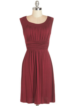 I Love Your Dress in Burgundy