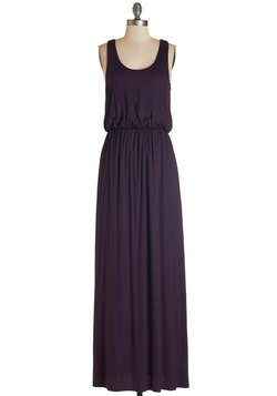 Breezy Night Stroll Dress in Plum