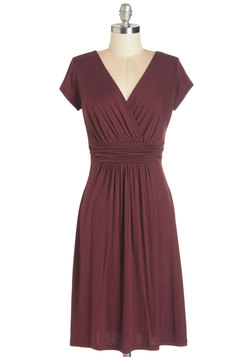 I'm So Fancied Dress in Burgundy