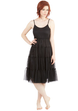 Give Me Gracefulness Full Slip in Black - Long