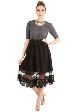 timeless taste skirt in black (modcloth)