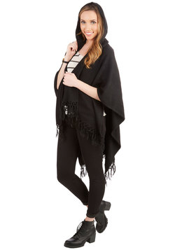 It Was Shawl a Dream Cardigan in Black