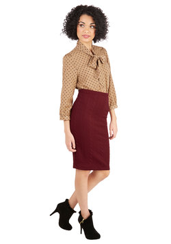 Command the Campaign Skirt in Burgundy