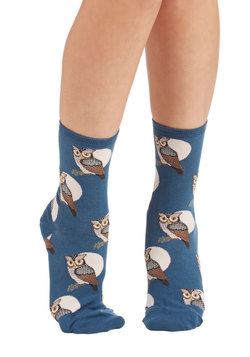 Cute Critter Fashion - Nocturnal Sights Socks