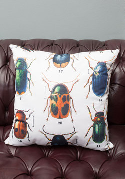 Let It Beetle Pillow