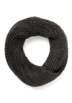 Nestled In for the Night Circle Scarf in Charcoal