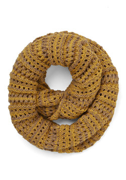 Two-Tone of a Kind Scarf in Mustard and Tan