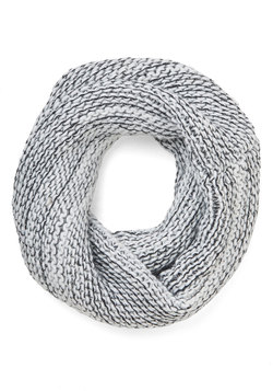 Nestled In for the Night Circle Scarf in Monochrome
