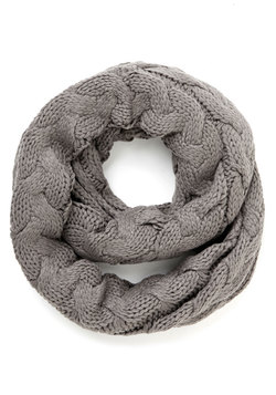 Go Outside and Plait Circle Scarf in Grey