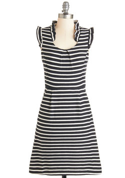 Waiting for Winsome Dress in Stripes