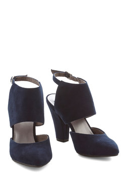 Steppin' Haute Heel in Navy