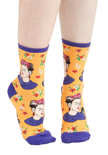 Frida Express Yourself Socks in Yellow