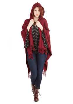 It Was Shawl a Dream Cardigan in Burgundy