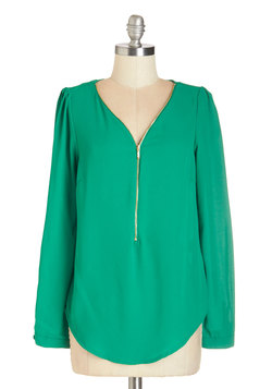 Cruise Zip Top in Green