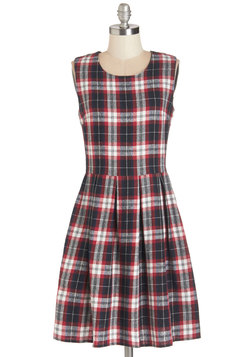 Known for Ingenuity Dress in Plaid