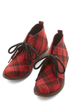 Tour Date Bootie in Red Plaid
