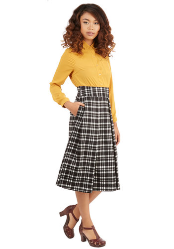 Crisscross the Map Skirt