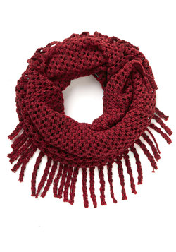What Glows Around Scarf in Crimson
