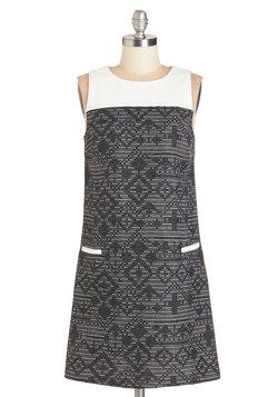 Geometric Texture Dress