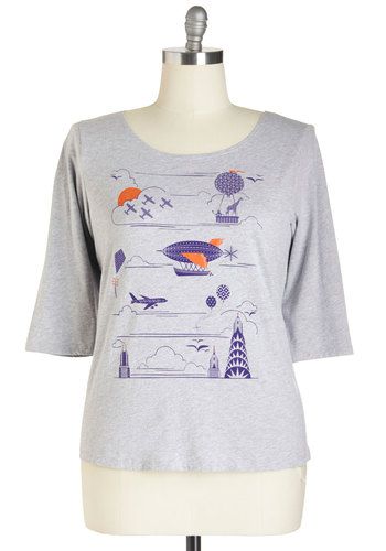 Flight On Your Feet Tee in Plus Size