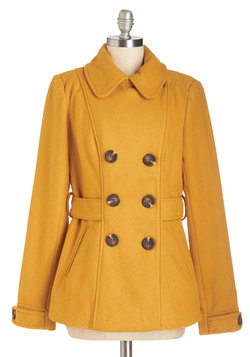 Farm Here to Eternity Coat in Mustard