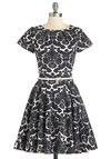 Like a Lucky Lady Dress in Damask