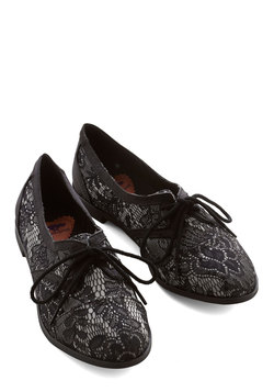Readily Reliable Flat in Black Lace