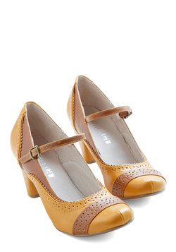Refined Your Purpose Heel in Goldenrod