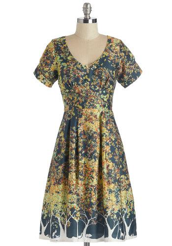 Frolicsome Foliage Dress