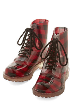 Lost in Spot Boot in Plaid