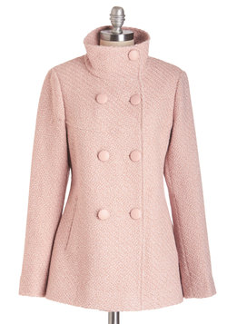 Stratus Quo Coat in Rose