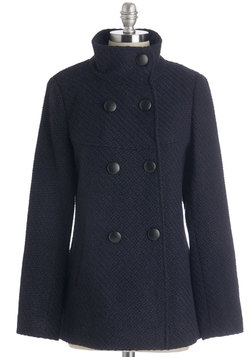 Stratus Quo Coat in Navy
