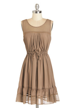 Clover and Over Dress in Tan