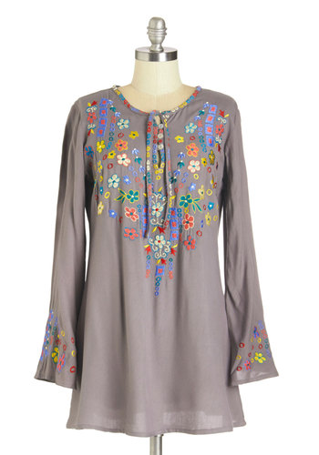 Folky-Dokie Tunic in Grey