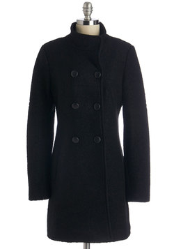 Campus Tour Guide Coat in Black