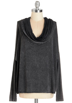 At Your Beck and Cowl Top in Soft Black