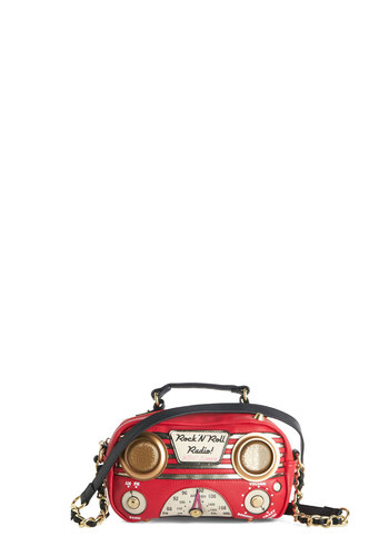 Betsey Johnson Audio Thrilled the Radio Bag