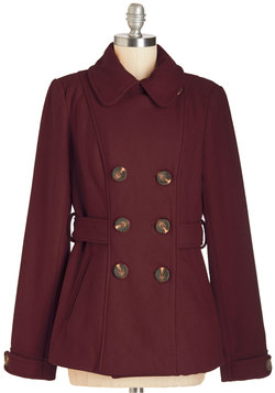 Farm Here to Eternity Coat in Merlot