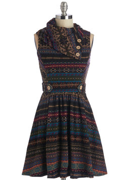 Coach Tour Dress in Fair Isle